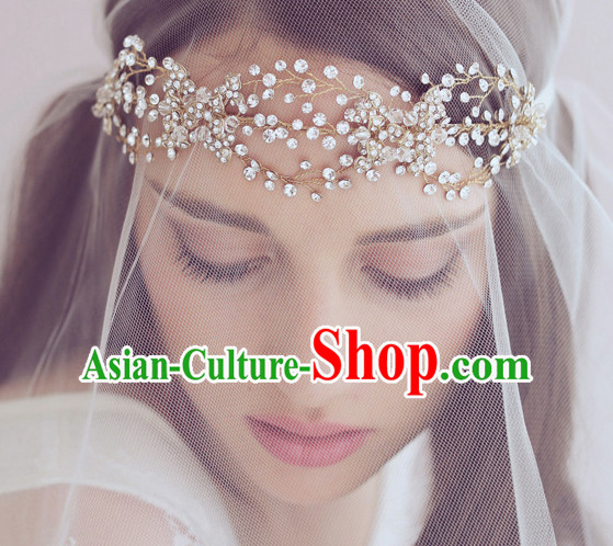 Romantic Bridal Princess Royal Crown Hair Accessories Hair Jewelry Headwear