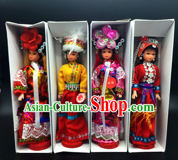 56 Minorities Silk Figurines Collections Complete Set