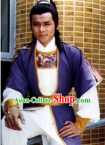 TVB Film New Adventures Chor Lau Heung Knight Hero Costumes Complete Set for Men