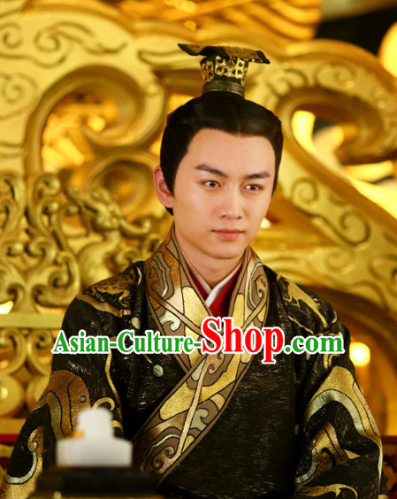 Ancient Chinese Emperor Coronet Head Wear Headpieces Hair Jewelry