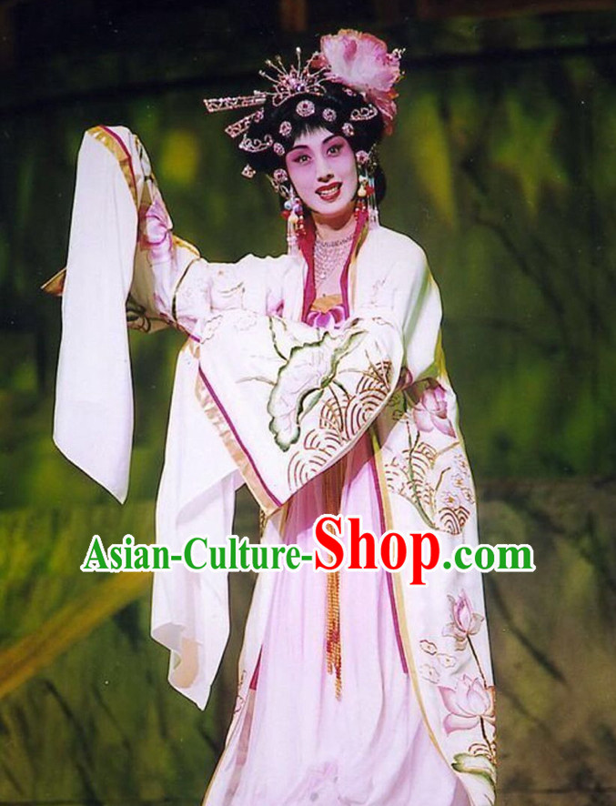 Chinese Ancient Opera Tang Dynasty Empress Stage Costumes and Hair Accessories Complete Set