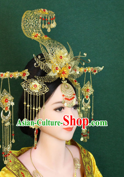 Ancient Chinese Female Emperor Wu Zetian Hair Accessories Complete Set
