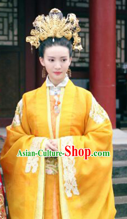 Ming Dynasty Empress Dresses and Hair Accessories Complete Set