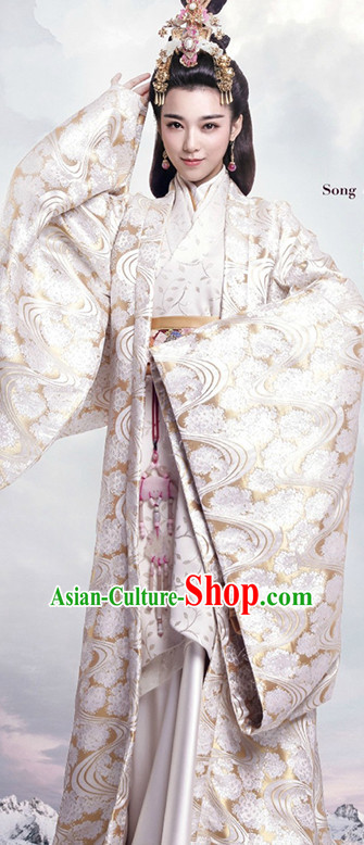 Ancient Chinese Empress Royal Dresses Imperial Robe Clothes Complete Set