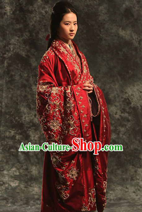 Empress Embroidered Wedding Suits Dresses Imperial Robe Clothes Set