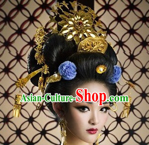 Wu Zetian Female Emperor Headpieces Hair Accessories Set