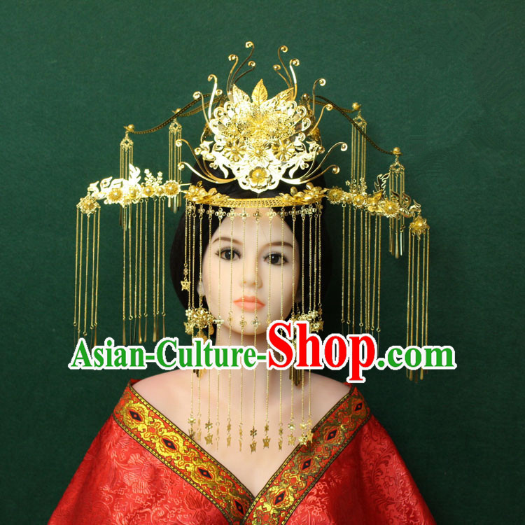 Chinese Ancient Style Hair Jewelry Accessories, Empress Hairpins, Queen, Tang Dynasty Xiuhe Suit Wedding Bride Phoenix Coronet, Hair Accessories Set for Women