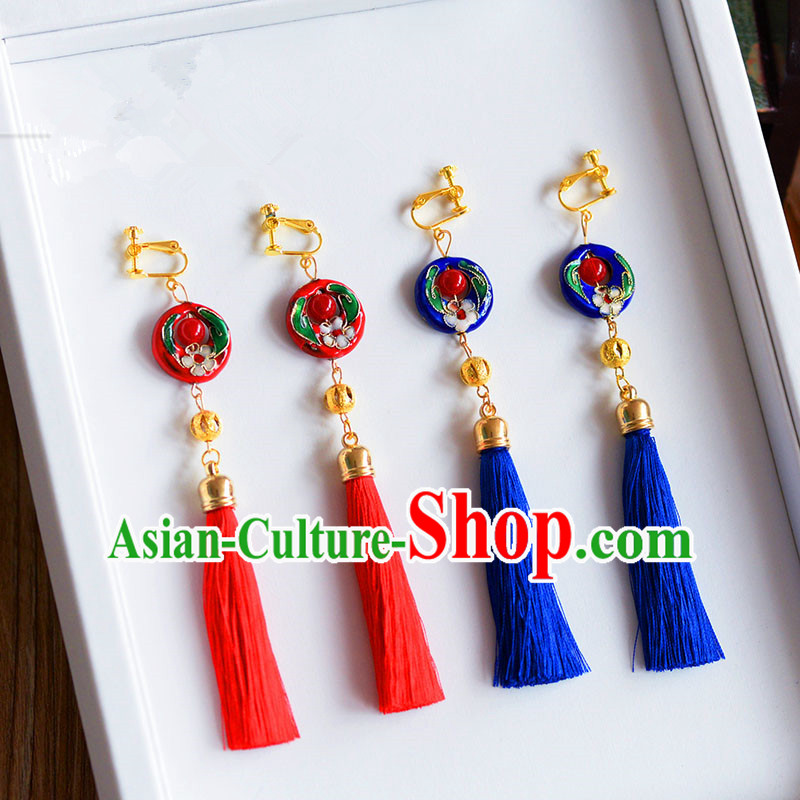 Chinese Ancient Style Jewelry Accessories, Xiuhe Suit Wedding Bride Earring for Women