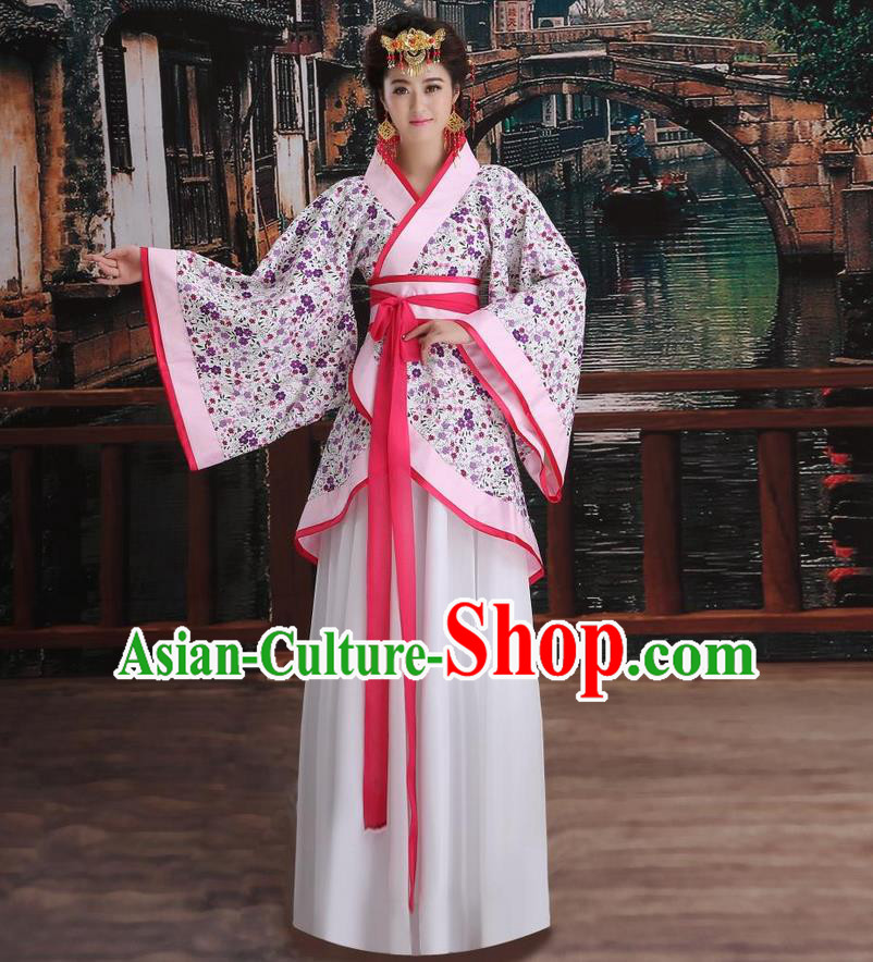 Ancient Chinese Palace Empress Costumes Complete Set, Han Dynasty Ancient Palace Wedding Princess Hanfu Dress Suits For Women