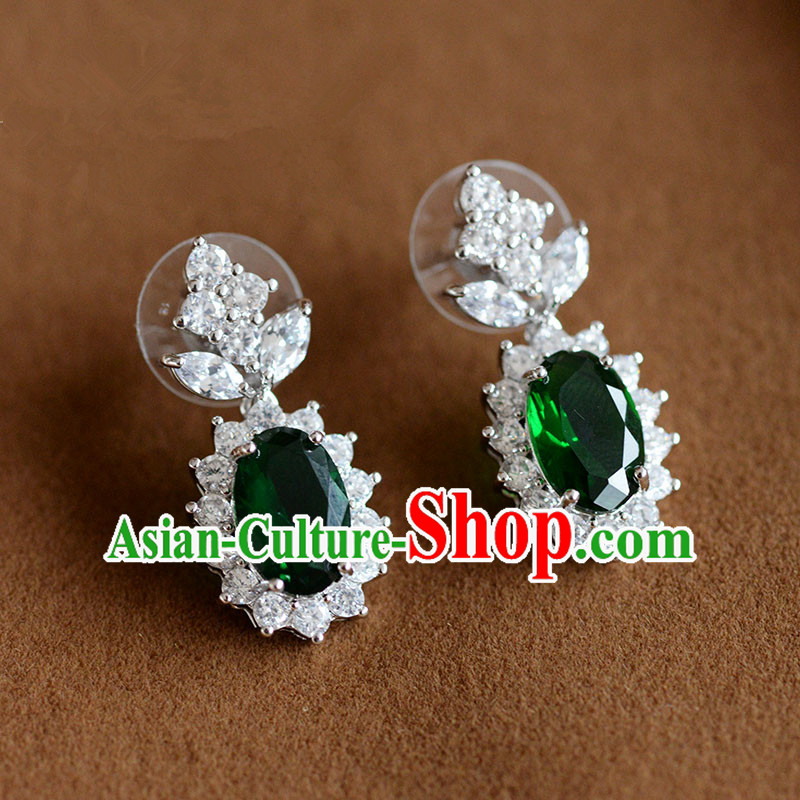 Traditional Jewelry Accessories, Princess, Bride, Wedding Baroco Style Crystal Earrings for Women