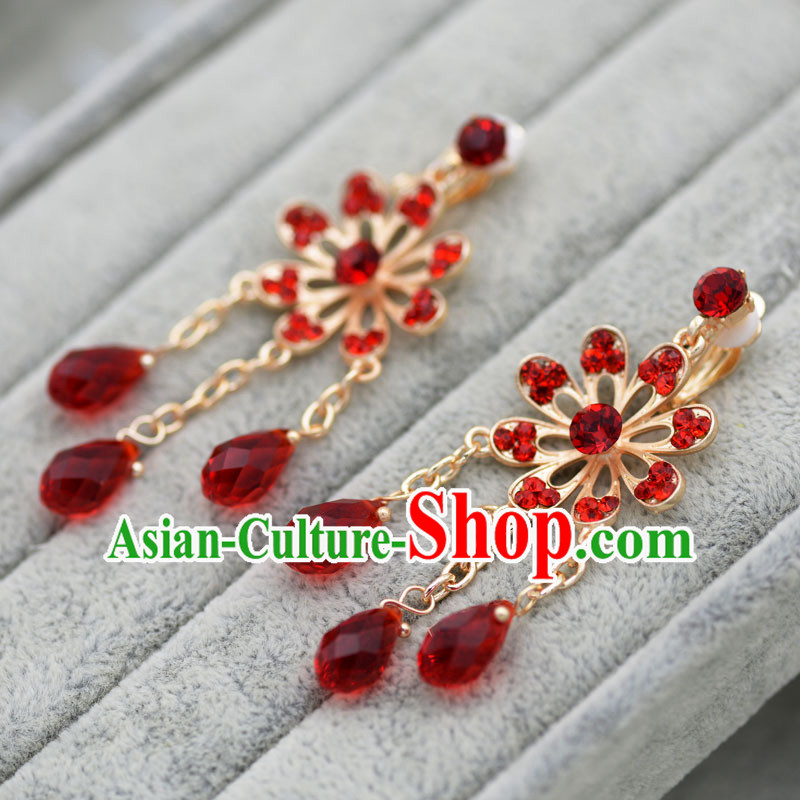 Chinese Ancient Style Hair Jewelry Accessories, Princess, Hanfu, Xiuhe Suit, Wedding Bride Earring for Women