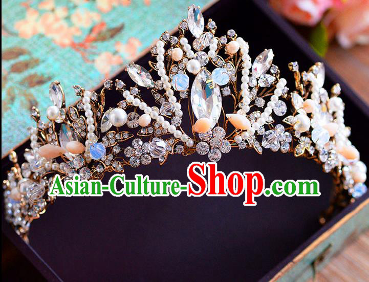 Traditional Jewelry Accessories, Princess Bride Royal Crown, Wedding Hair Accessories, Baroco Style Crystal Headwear for Women
