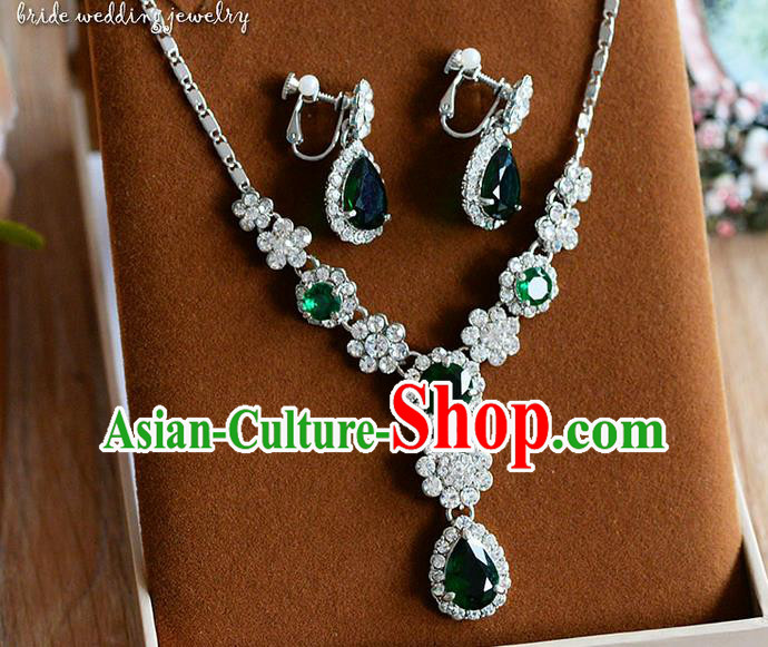 Traditional Jewelry Accessories, Palace Princess Necklace, Wedding Accessories, Baroco Style Crystal Earrings for Women