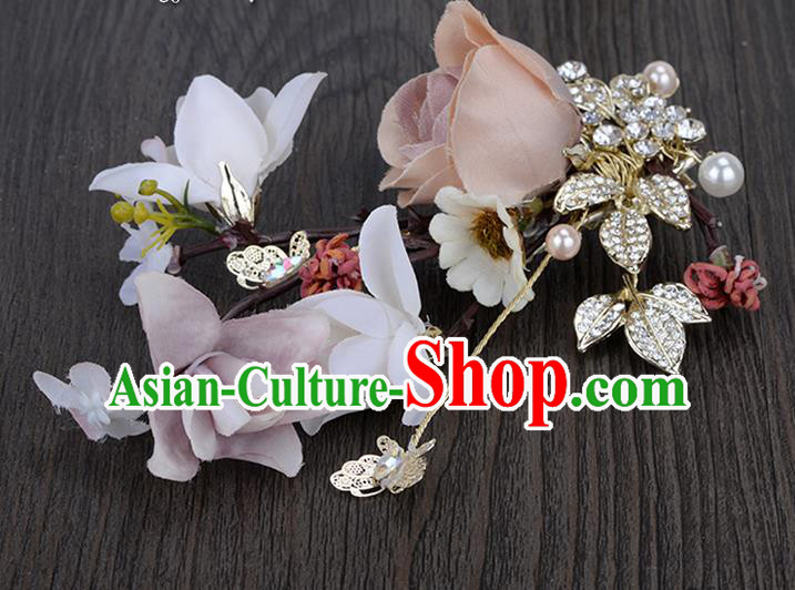 Traditional Jewelry Accessories, Princess Wedding Hair Accessories, Bride Wedding Hair Accessories, Baroco Style Flowers for Women