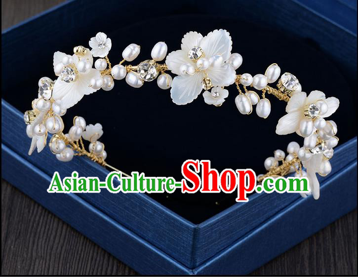 Traditional Jewelry Accessories, Princess Hair Accessories, Bride Wedding Hair Accessories, Baroco Style Pearl Headwear for Women
