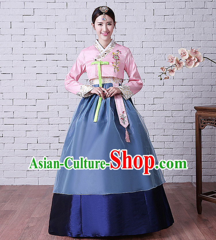 Korean Traditional Costumes Korean Ancient Clothes Wedding Full Dress Formal Attire Ceremonial Clothes Court Stage Dancing