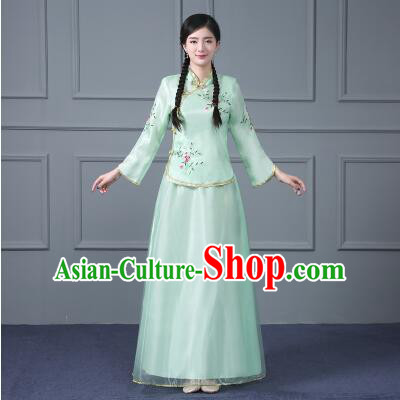 Chinese Traditional Clothes Min Guo Time Girl Women Clothing Nobel Lady