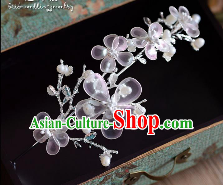 Traditional Jewelry Accessories, Princess Wedding Hair Accessories, Bride Wedding Hair Accessories, Headwear, Baroco Style Handmade Pearl Flowers Hair Claw for Women