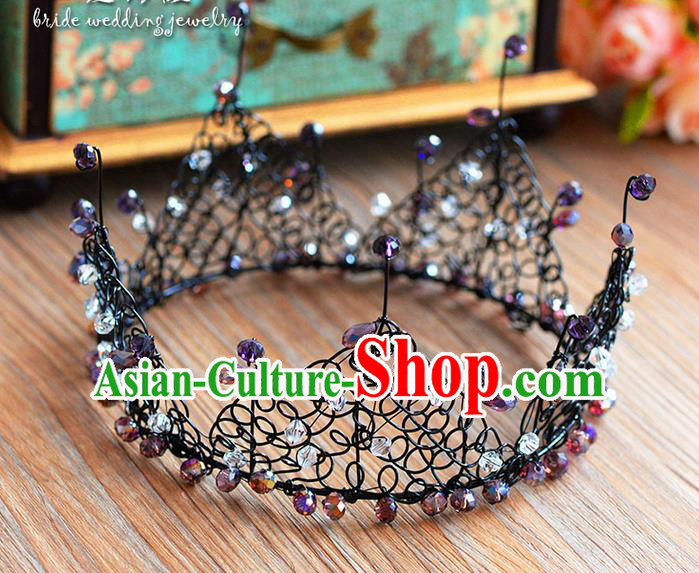 Traditional Jewelry Accessories, Palace Queen Bride Royal Crown, Engagement Retro Royal Crown, Wedding Hair Accessories, Baroco Style Headwear for Women