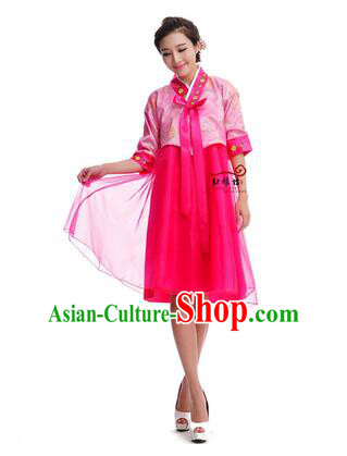 Women Shirt Skirt Korean Clothes Show Costume Shirt Sleeves Korean Traditional Dress Dae Jang Geum Pink Top Red Skirt