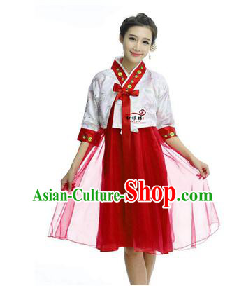 Women Shirt Skirt Korean Clothes Show Costume Shirt Sleeves Korean Traditional Dress Dae Jang Geum White Top Red Skirt