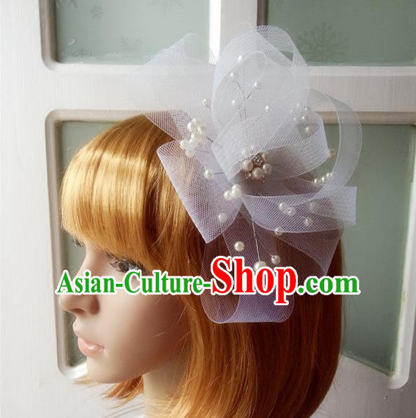 Chinese Wedding Jewelry Accessories, Traditional Bride Headwear, Wedding Tiaras, bridal Wedding Lace Hair Clasp