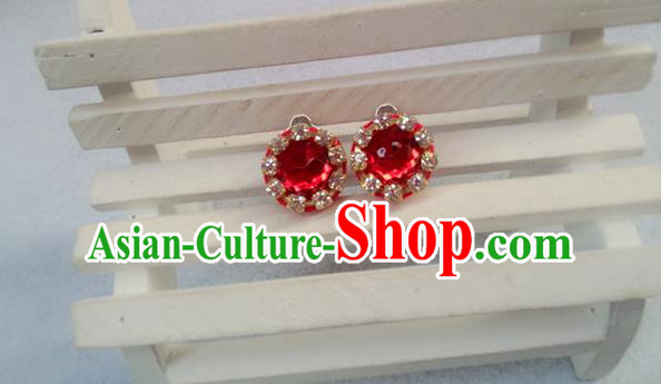 Chinese Wedding Jewelry Accessories, Traditional Xiuhe Suits Wedding Bride Earrings, Ancient Chinese Crystal Earrings