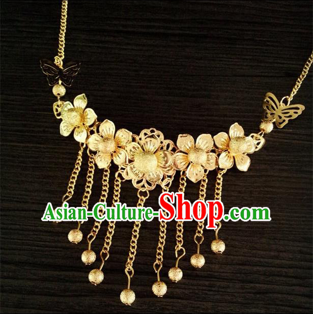 Chinese Wedding Jewelry Accessories, Traditional Xiuhe Suits Wedding Bride Necklace, Ancient Chinese Collar Accessory