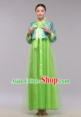 Korean Traditional Dress Women Clothes Show Costumes Korean Traditional Dress Show Stage Dancing Long Skirt Blue Top Green Skirt