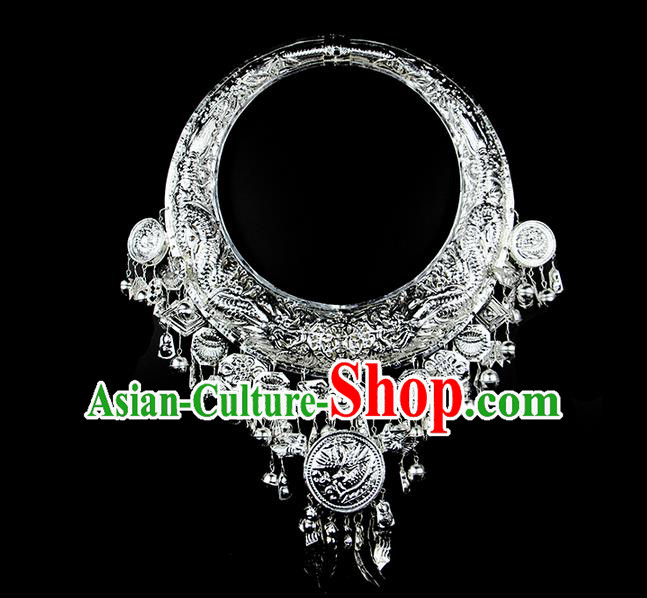 Traditional Chinese Miao Ethnic Minority Necklace Miao Ethnic Jewelry Accessories Complete Set