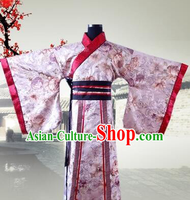 Han Fu Men Tang Suit Chinese Traditional Costumes Officials Straight Fringing Straight-front Shenyi Stage Show Dress