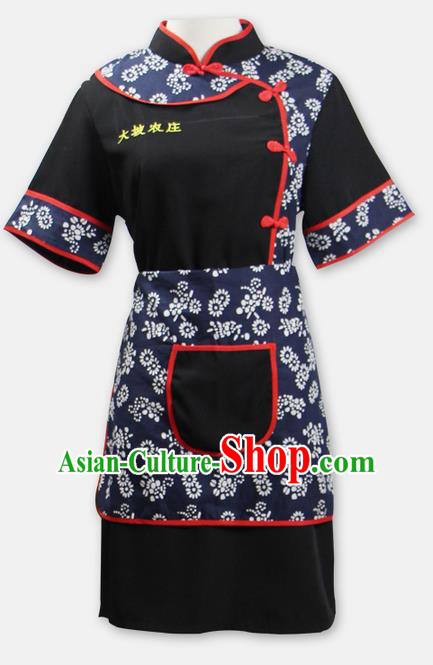 Traditional Chinese Miao Nationality Dancing Costume, Hmong Female Folk Dance Ethnic Dress Set, Chinese Minority Tujia Nationality Embroidery Costume for Women