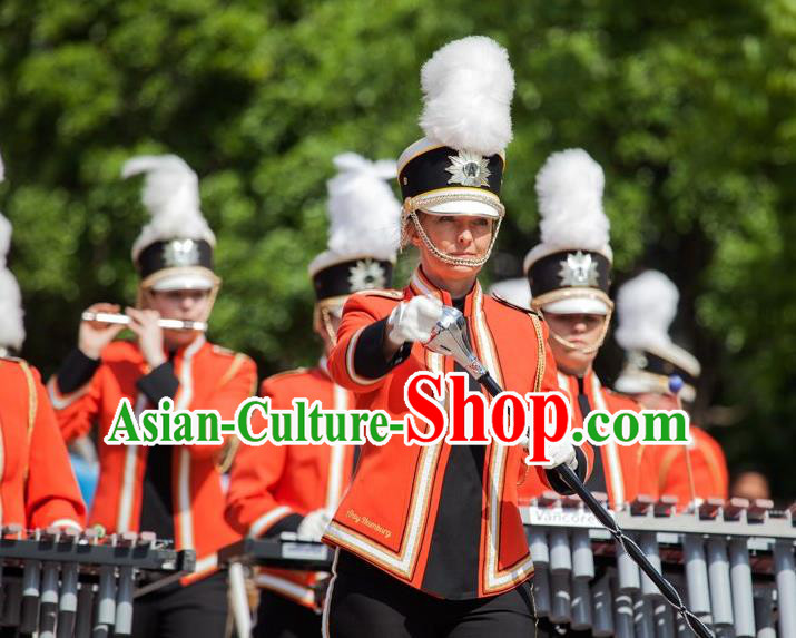 Traditional Modern Military Costume, Women Opening Ceremony Costume, Modern Drum Team Clothing for Women