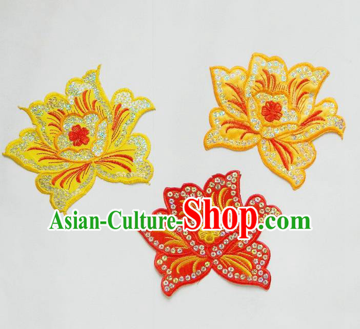 Traditional Chinese Handmade Folk Dance Clothing Ingredients Patch Diy Cloth Accessories Stage Props Umbrellas Yangge Dance Embroidery Patch