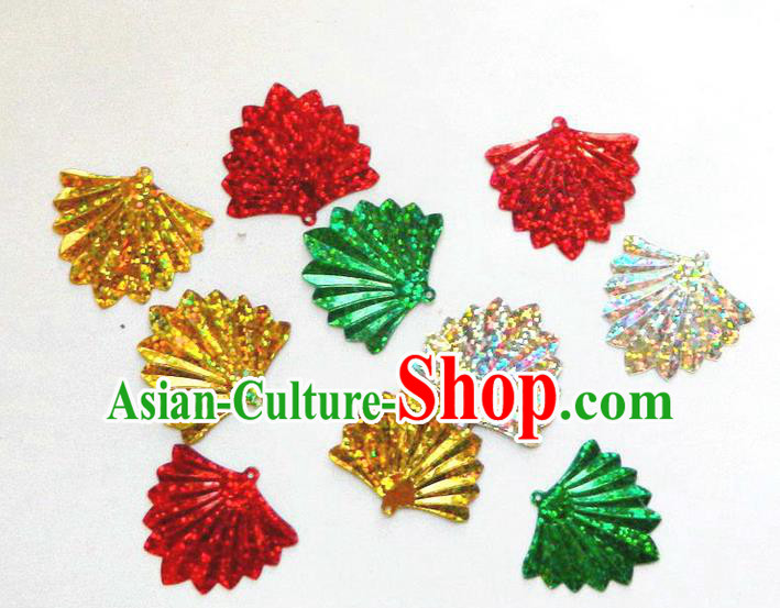 Traditional Chinese Handmade Folk Dance Clothing Ingredients Patch Cloth Accessories Stage Props Umbrellas Yangge Dance Patch