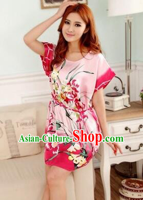 Night Gown Women Sexy Skirt Ancient China Style Chinese Traditional Chinese Night Suit Nighty Bedgown Orchid
