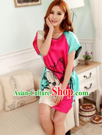 Night Gown Women Sexy Skirt Ancient China Style Chinese Traditional Chinese Night Suit Nighty Bedgown Butterfly