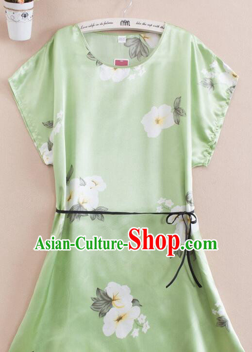 Night Gown Women Sexy Skirt Ancient China Style Chinese Traditional Chinese Night Suit Nighty Bedgown Green