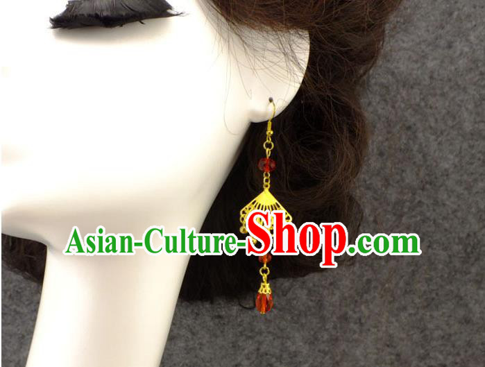 Ancient Chinese Style Imperial Palace Empress Queen Wedding Cloisonn茅 Earrings For Women