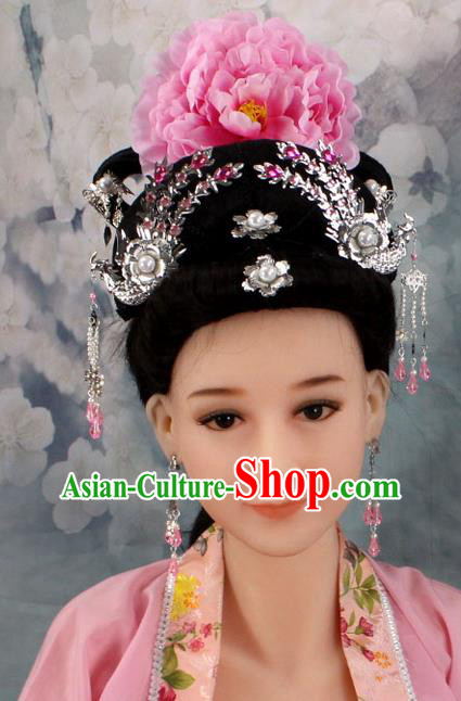 Chinese Ancient Style Hair Jewelry Accessories, Hairpins, Hanfu, Xiuhe Suits Wedding Bride Imperial Empress Princess Handmade Phoenix for Women