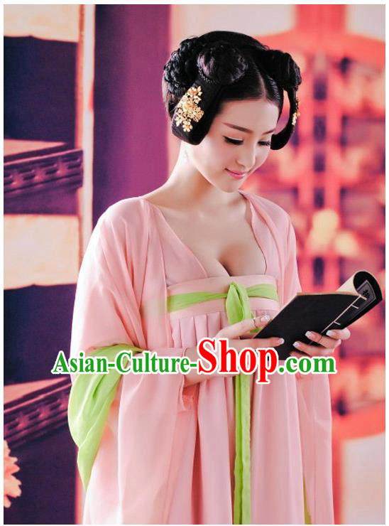 Ancient Chinese Palace Empress Costumes Complete Set, Tang Dynasty Ancient Palace Dress For Women