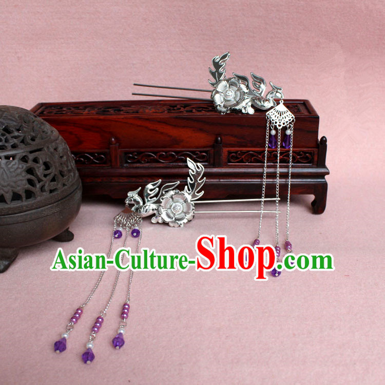 Chinese Ancient Style Hair Jewelry Accessories, Hairpins, Han Dynasty Princess Hanfu Xiuhe Suit Wedding Bride Phoenix Coronet, Hair Accessories for Women