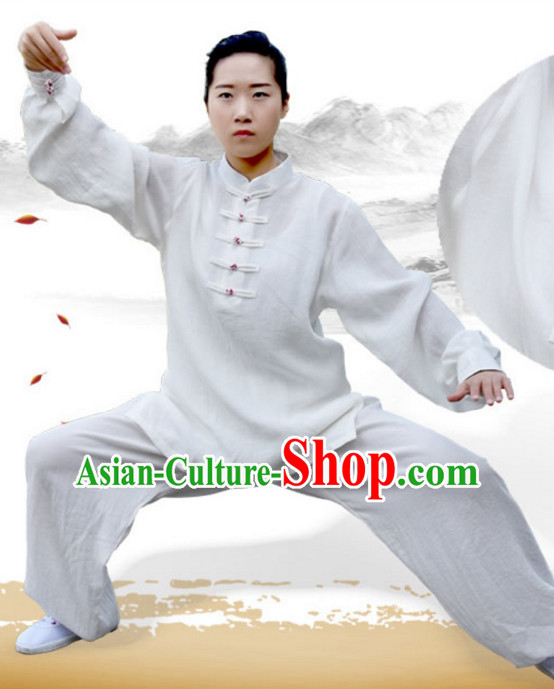 Top Kung Fu Flax Clothing Costume Jacket Martial Arts Clothes Shaolin Uniform Kungfu Uniforms Supplies for Men Women Adults Children