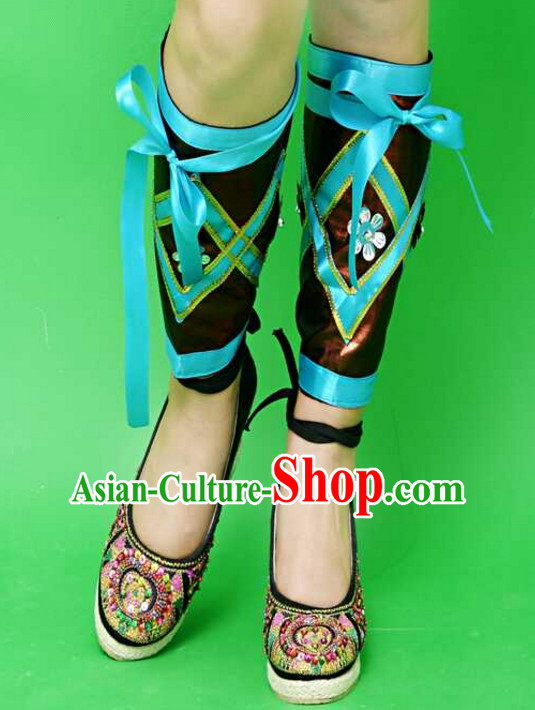 Traditional Chinese Miao Minority Leg Wrappings for Women