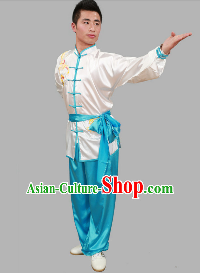 Top Tai Chi Uniforms Kung Fu Uniform Martial Arts Suits Mulan Fan Outfits