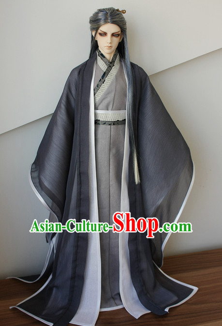 Ancient Chinese Poet Hanfu Costumes for Men Boys Adults Kids