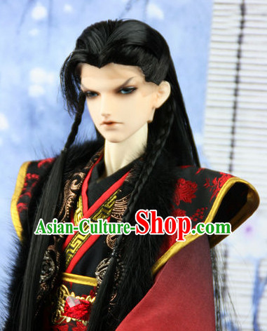 Ancient Chinese Male Black Wigs