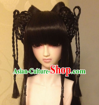 Ancient Chinese Female Black Wigs