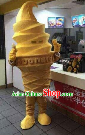 Free Design Professional Custom Mascot Uniforms Mascot Outfits Customized Cute Cartoon Character Ice Cream Mascots Costumes