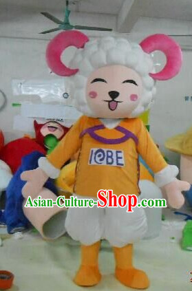 Free Design Professional Custom Mascot Uniforms Mascot Outfits Customized Cute Cartoon Character Sheep Mascots Costumes
